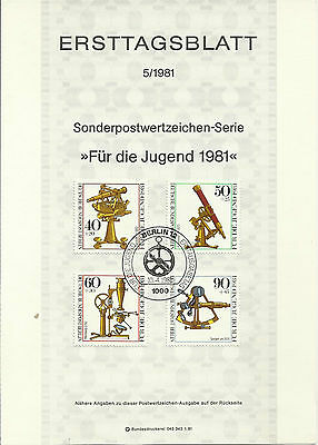Stamp 1981 Germany Scientific for youth Instrument Special Post Brochure Sheet
