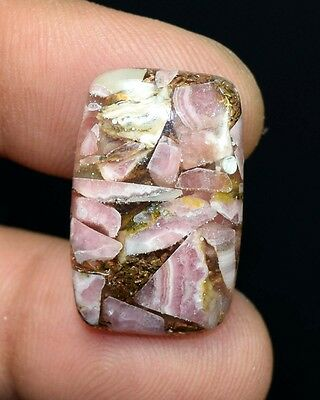 24.25  Cts. Natural  Lovely  Copper  Rhodochrosite  Cushion  Cab Loose Gemstones