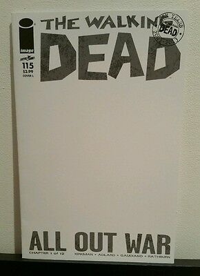 The Walking Dead # 115 Blank variant edition sketch cover L nm Image Comics 2013