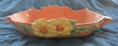 Roseville Art Pottery PEONY Pink Console Bowl 433-14