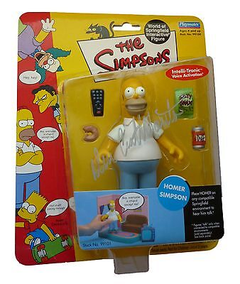 Dan Castellaneta Signed Homer Simpson The Simpsons WOS Playmates Action Figure