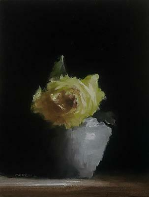 Neil Carroll Original Oil Painting Realism Impressionism Still Life Rose