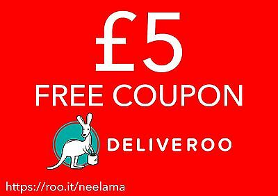 £5 OFF DELIVEROO TAKEAWAY VOUCHER / PROMO CODE! *Information in listing*