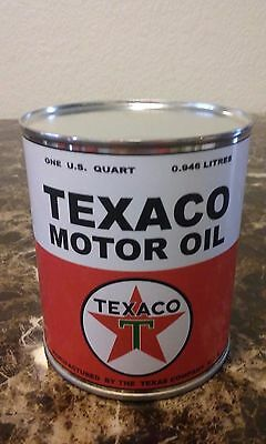 Vintage Texaco Oil Can 1 qt. ( Stashcan )   - Reproduction vintage can