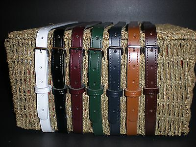Utility real leather straps Multi-Purpose 7 colours available (19mm/ 3/4 inch)