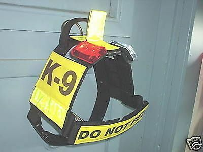 Dog Training Harness With Handle And Led Lights Look !!!!! Police K9 Schutzhund