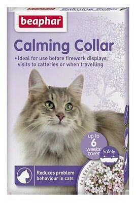 Beaphar Calming Cat Collar for Anxiety Fireworks Travel & Stress Relief 35cm