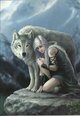 Protector Greeting Card - Anne Stokes