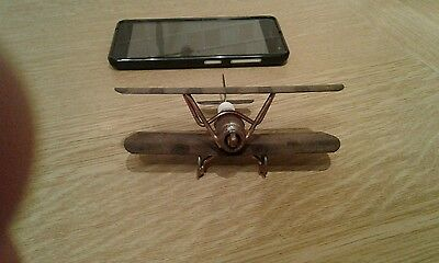 Vintage Model Airplane - Tin Art Style - Hand Crafted