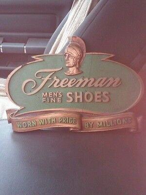Freeman Men's Fine Shoes Department Store Sign Plaque Worn W/ Pride By Millions
