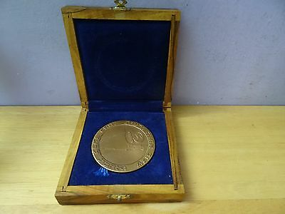 ISRAEL Ministry of Communications / Israel post PRIVATE MEDAL 59mm BRONZE + BOX