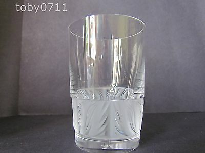 LALIQUE CRYSTAL FLAMME SMALL TUMBLERS / GLASSES - FLAMMES (Ref577)