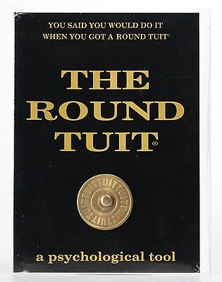 THE ROUND TUIT Bronze  Engravable New in Packaging