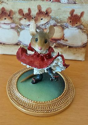 """Wee Forest Folk  MU-05 """"Can-Can Mouse a la Toulouse Latrec""""  Mint"""