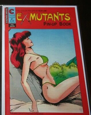 Ex-Mutants Pin-Up Book (1988) 1 early RON LIM