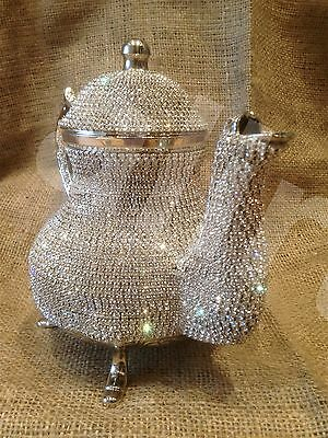 Swaroski decorated , copper tea pots high value Hand made arabic luxury silver