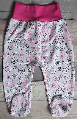 *NEW* Baby Girls **FLORAL** Trousers//Leggings/Pants with feet 100% Cotton