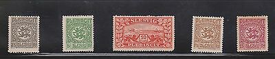(U5-7) 1920s Schleswig mix of 29stamps 2pf to 10M (old German state)