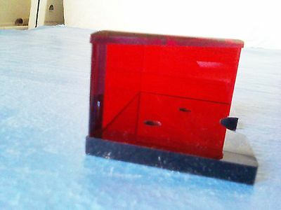 single deck red professional discard holder w/ top