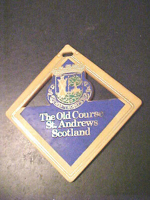 Vintage Plastic The Old Course St. Andrews Scotland Bag Tag.