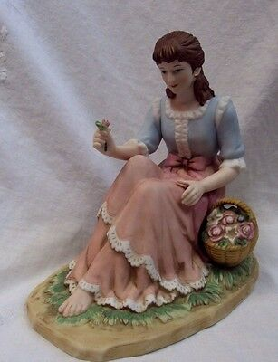 """HOME INTERIORS Porcelain Figurine ~ BEHOLD THE BEAUTY ~ 6"""""""