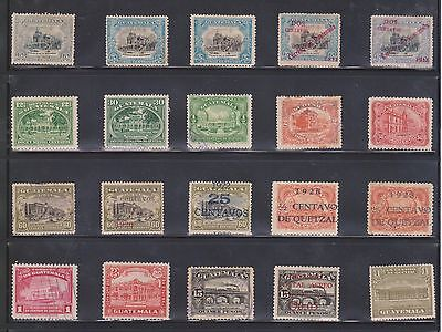 (U10-17) 1980s Guatemala mix of 6 stamps value to 3Q (G)