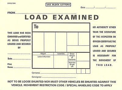 EWS/BR LOAD EXAMINED WAGON LABEL 2 of 2