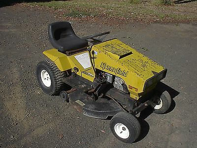 """Greenfield 32"""" ride on mower, only 230hrs!"""