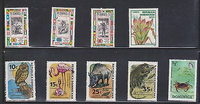 (U8-12) 1980s Dominica mix of 13 stamps ½c to 35c (J)