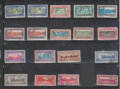 (U10-18) 1920-50s Guatemala mix of 58 stamps value to 15c (H)
