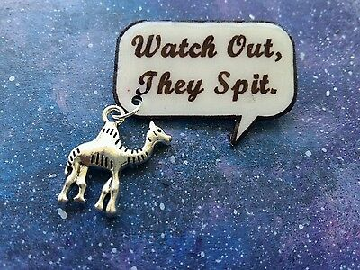 Aladdin quote badge/pin/brooch with camel charm Disney