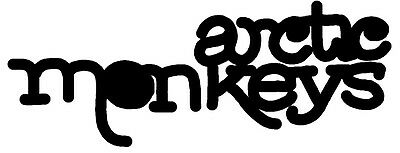 Arctic Monkeys shaped vinyl sticker 160mm x 65mm