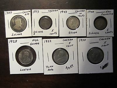 Mixed lot of Canadian  coins see photoes