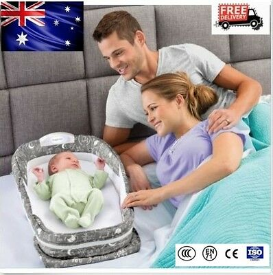 Baby Snuggle Nest Surround XL Infant Sleeper Travel Music Cot Crib Bed 83*35cm