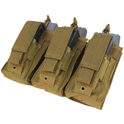 Condor MOLLE Tactical Mag Pouch COYOTE BROWN 5.56 .223 AR-15 Rifle & Pistol Mags