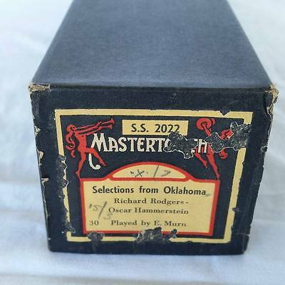 Pianola Piano Roll Selections From Oklahoma Mastertouch SS 2022 - 024
