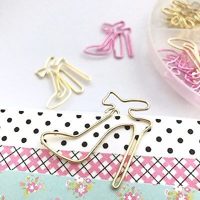 Paper Clips Gold Shoes Planner Accessories Paperclip