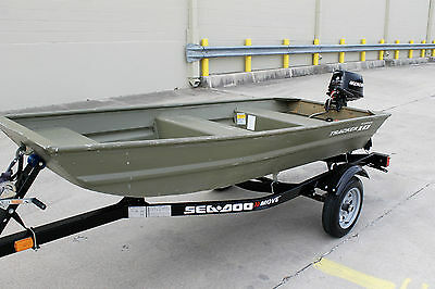 2009 Alumacraft 1032 With 2007 Mercury 4 Stroke 6 Hp And 2015 Trailer No Reserve