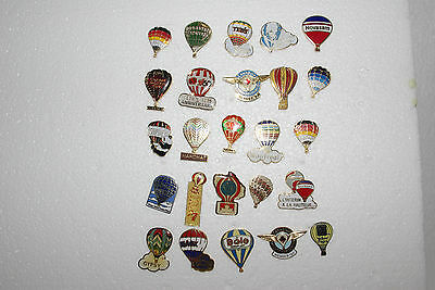 25 Small Hot Air Balloon Pins From The 1980's Great Variety Small Size