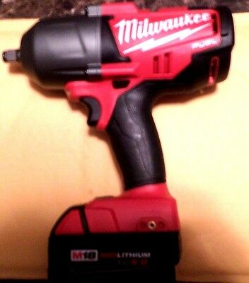 Milwaukee 2763-20 M18 Fuel 1/2 Brushless High Torque Impact Wrench Kit Battery