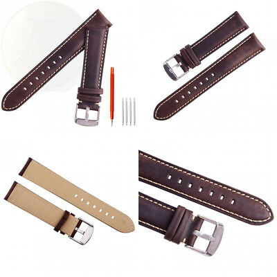 Ritche 18mm 20mm 22mm Leather Watch Strap,Watch Band Wrist Replacement Pin...