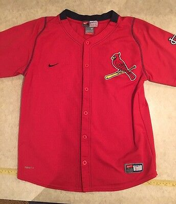 St. Louis Cardinal Red Nike Jersey Youth Size Medium