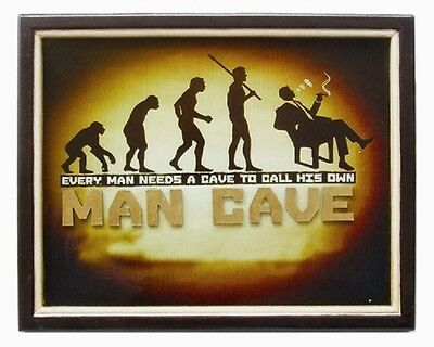 Wooden Man Cave Evolution Table 3D Art with FREE Shipping