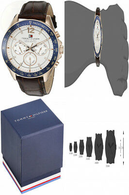 bfe54d736 Tommy Hilfiger Men's 1791118 Sophisticated Sport Watch with Brown Leather  Band