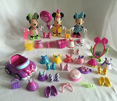 Disney Minnie Mouse Bow-Tique 3 Dolls & Accessories 44pc Snap 'N Style Lot 4