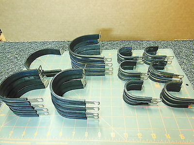 Wire loom Cushion Cable Clamp stainless steel LOT assortment