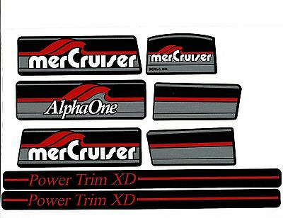 Mercruiser  Alpha One Gen. One   Decals  W /red Rams Sticker Set