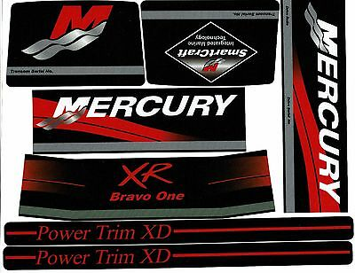 Mercruiser  Bravo One Xr Original Colors Decals  W /red Rams Sticker Set