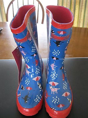 THOMAS COOK Girls Cat & Dog Gumboots (Size 12)