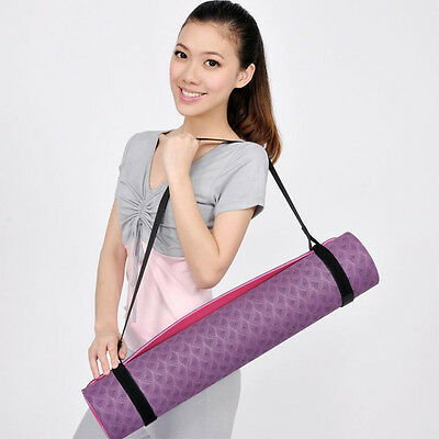 Portable Adjustable Fitness Yoga Mat Shoulder Carrier Strap Sling Belt Durable